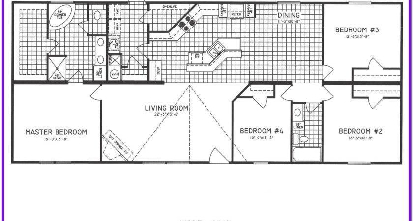 Bedroom Single Wide Mobile Home Floor Plans Gurus