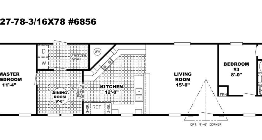 Bedrooms Bedroom Single Wide Mobile Home Floor Plans