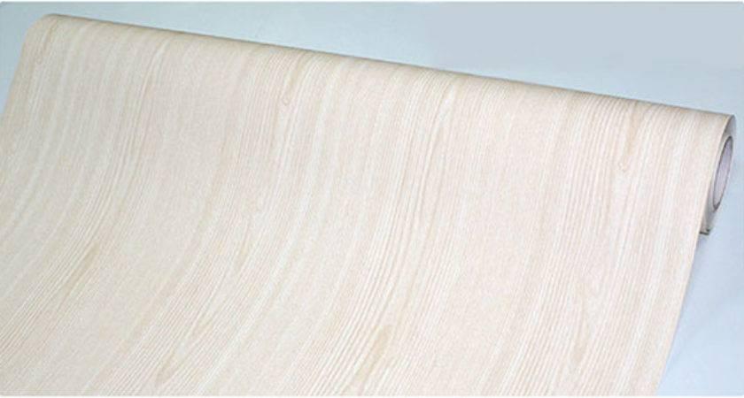 Beech Wood Grain Vinyl Wall Caravan Makeover