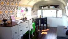 Before After Airstream Trailer Makeover Design Sponge