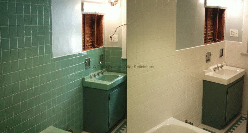 Before After Bathtub Refinishing Tile Reglazing