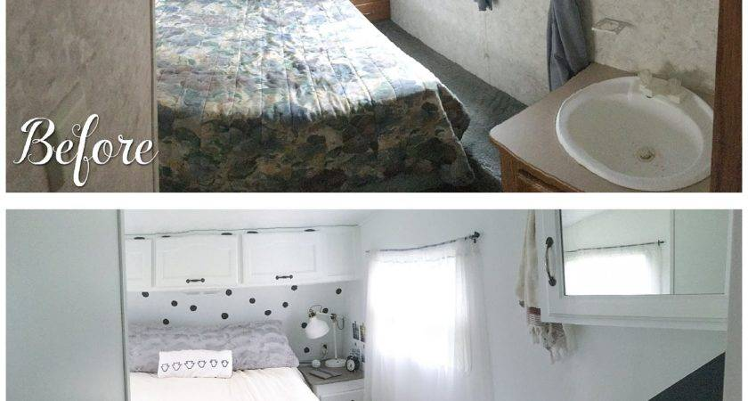Before After Fifth Wheel Renovation Sqft