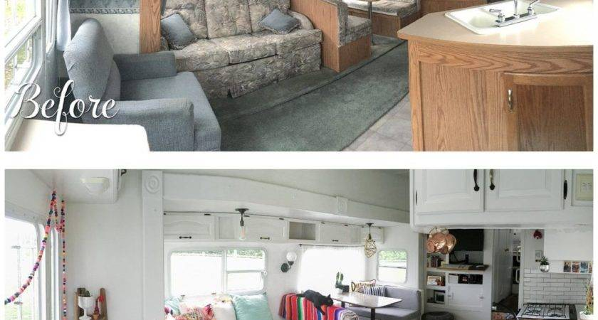 Before After Fifth Wheel Renovation