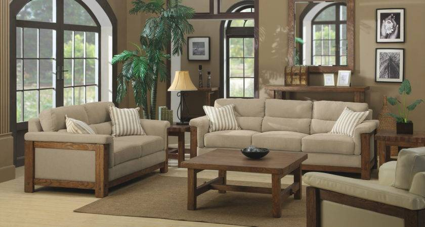 Beige Brown Living Room