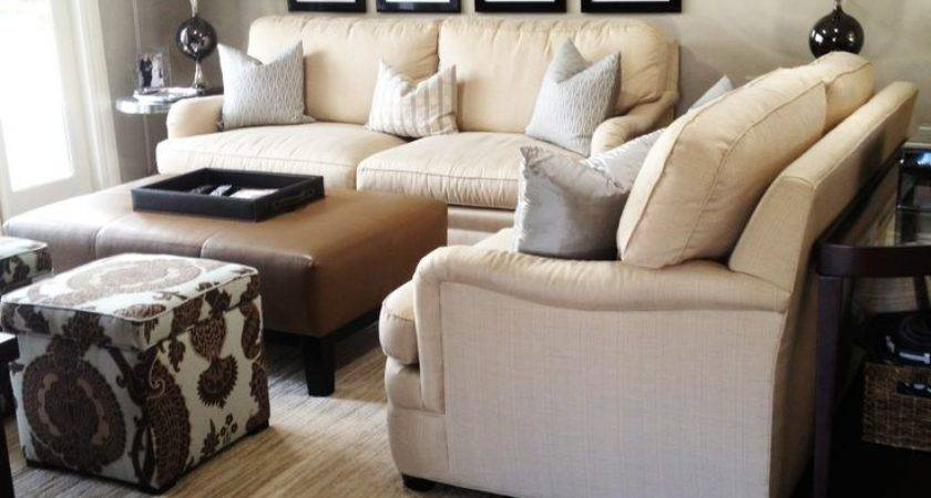 Beige Brown Sofa Sectional Ftfpgh
