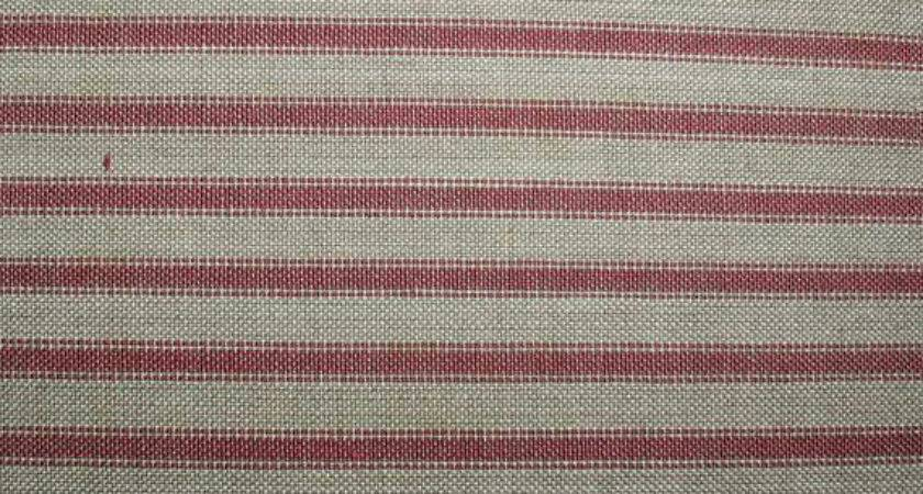 Berry Ticking Stripe Homespun Fabric Homespunheartofmine