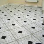 Best Black White Vinyl Floor Tiles Interior