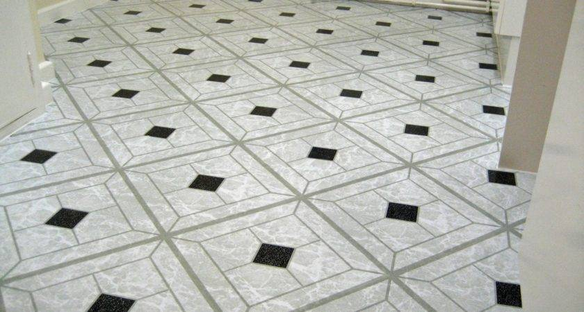 Best Black White Vinyl Floor Tiles Interior