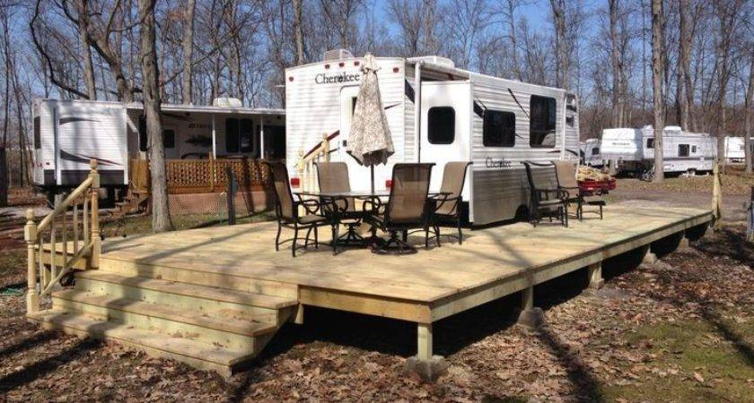 Best Camper Deck Ideas Pinterest Campers