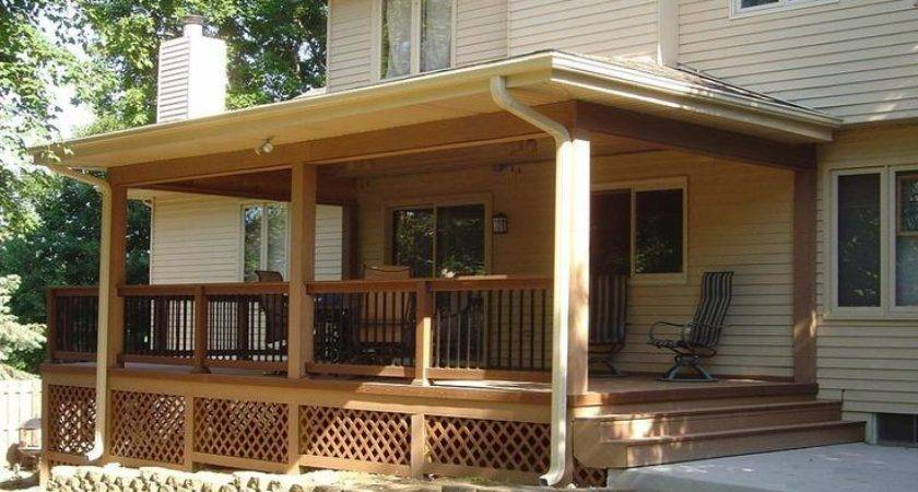 Best Front Porch Open Covered Deck Design