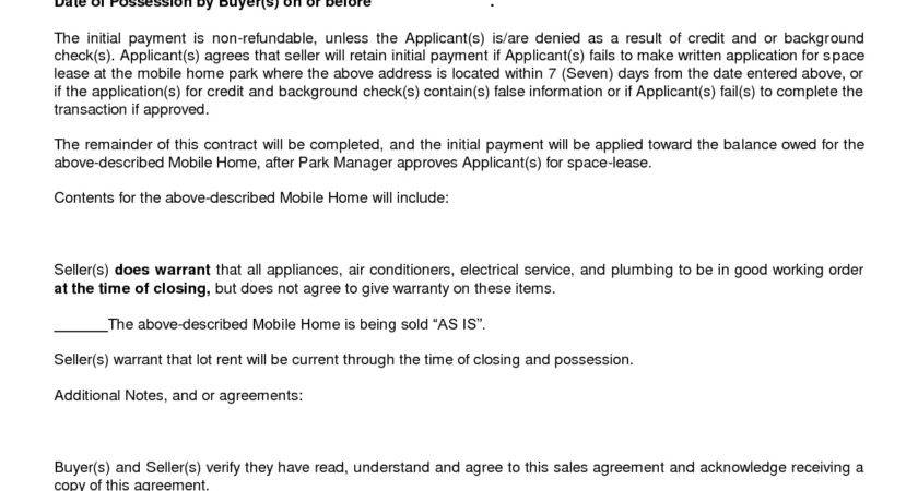 Best Home Purchase Agreement