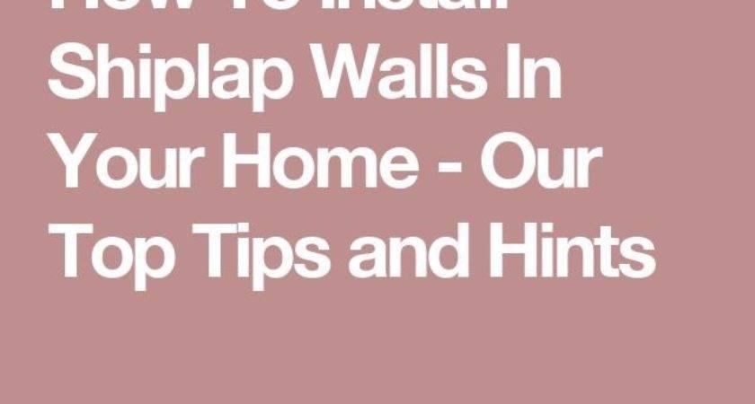 Best Installing Shiplap Ideas Pinterest