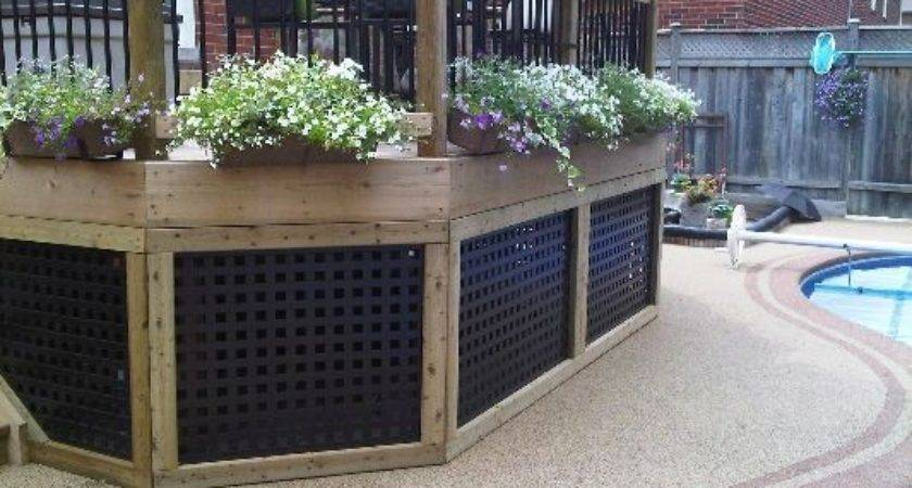 Best Lattice Deck Ideas Pinterest