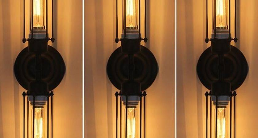 Best Loft Diy Rustic Edison Wall Lamp Vintage