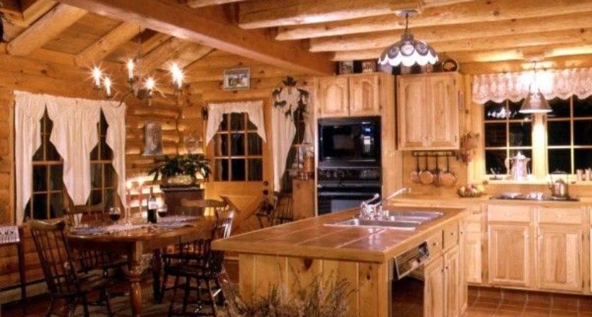 Best Log Cabin Kitchens Ideas Pinterest