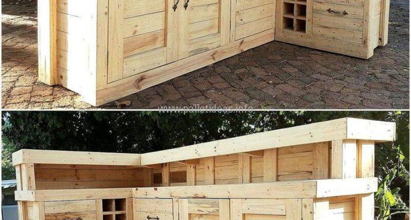 Best Pallet Bar Plans Ideas Pinterest Diy