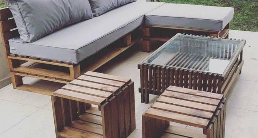 Best Pallet Outdoor Furniture Ideas Pinterest Diy