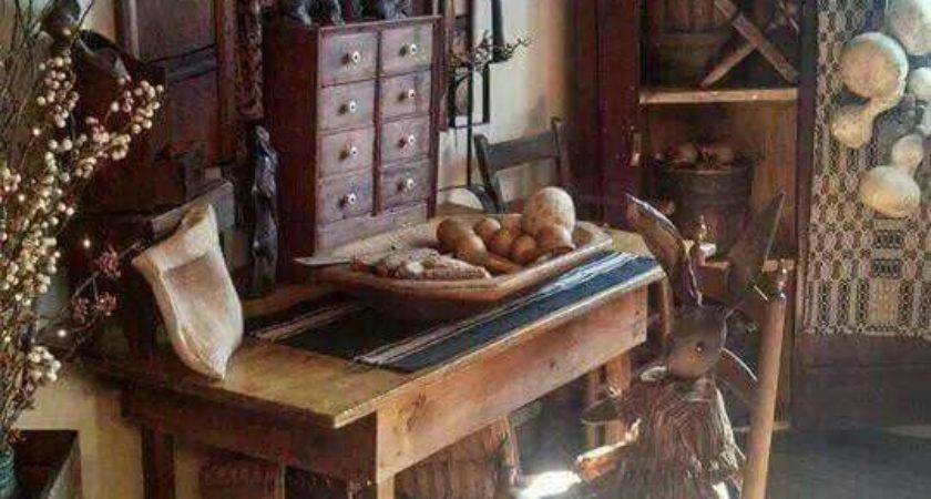 Best Primitive Colonial Rooms Pinterest