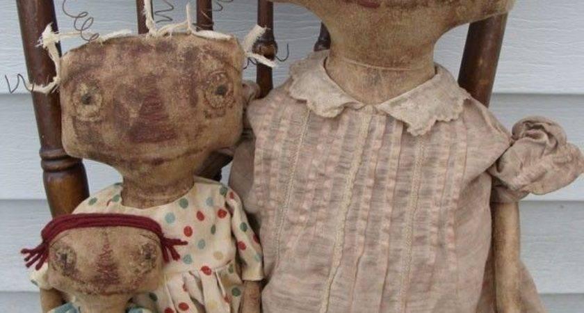Best Primitive Dolls Pinterest Fabric