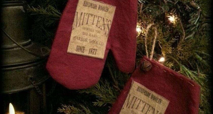 Best Primitive Mitten Ornaments Ideas Pinterest