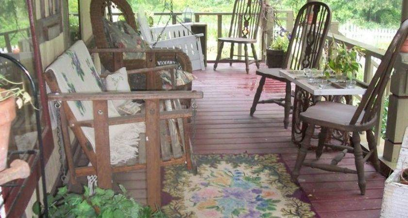 Best Primitive Porches Pinterest Cottage