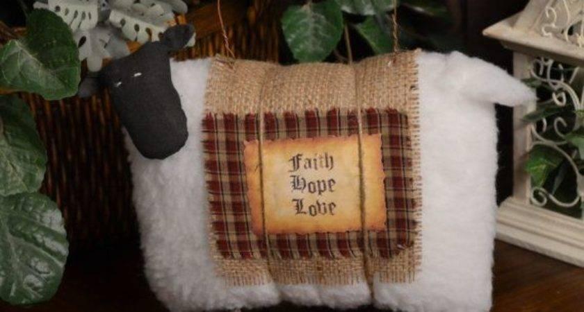 Best Primitive Sheep Decor Pinterest