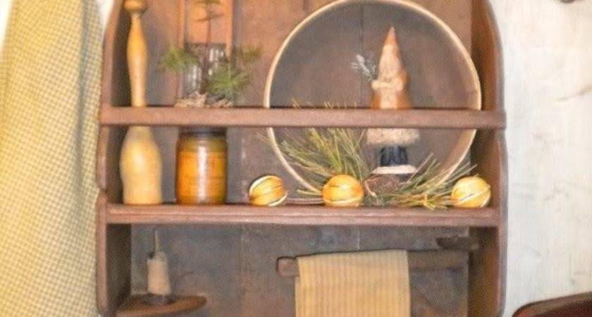 Best Primitive Shelves Ideas Pinterest