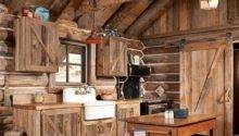 Best Rustic Cabin Kitchens Ideas Pinterest Log