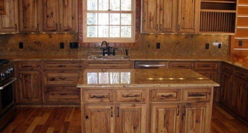 Best Rustic Hickory Cabinets Ideas Pinterest