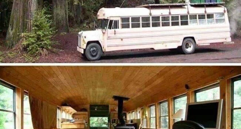 Best School Bus Renovations Pinterest