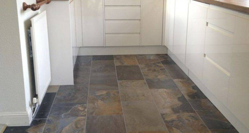 Best Slate Floor Tile Kitchen Ideas Pinterest