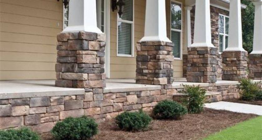 Best Stone Columns Ideas Pinterest House