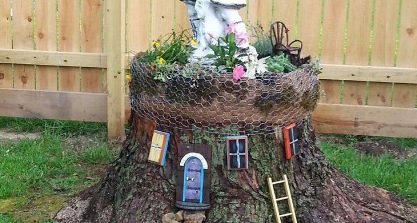 Best Stump Gardening Pinterest