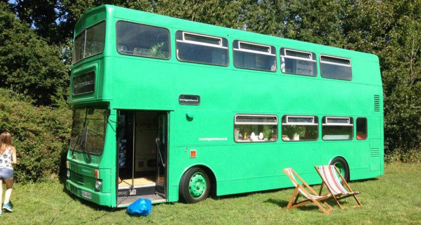 Big Green Bus Tiny House Swoon