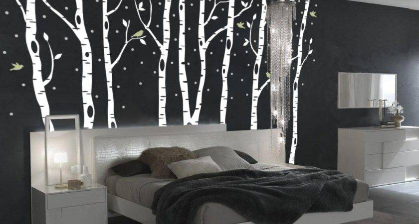 Birch Tree Winter Forest Vinyl Wall Decal