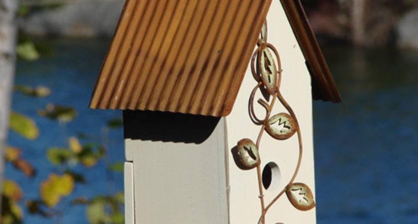 Bird House Blue Mondus Distinction Garden Decor