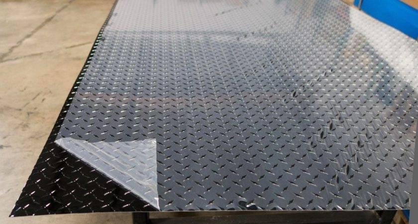Black Aluminum Diamond Plates Cold