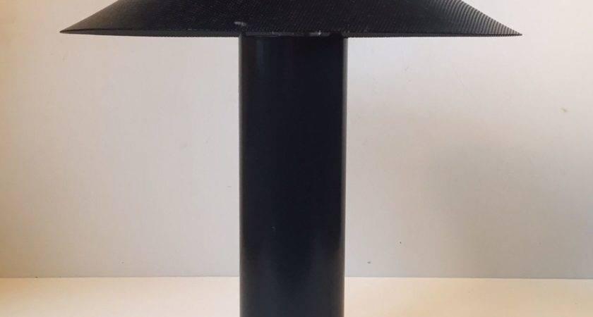 Black Danish Minimalist Table Lamp Hans Schwazer