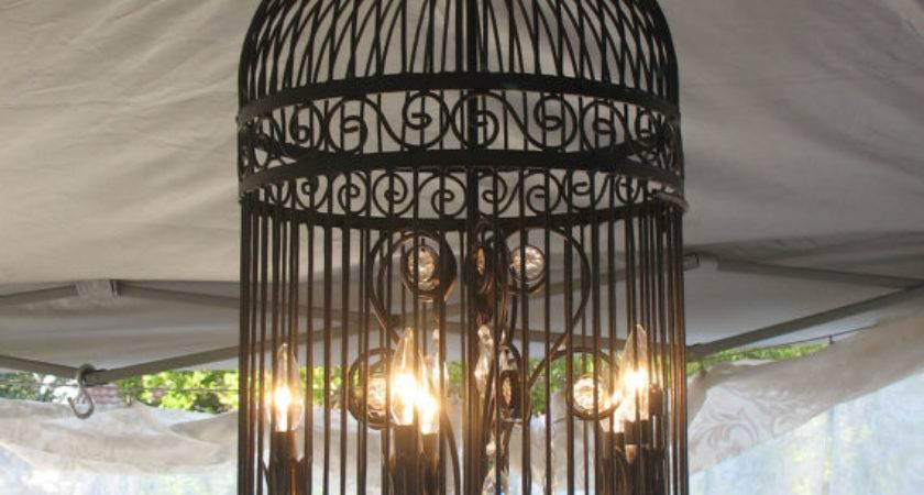 Black Iron Birdcage Chandelier Stunning Beatricerosecottage