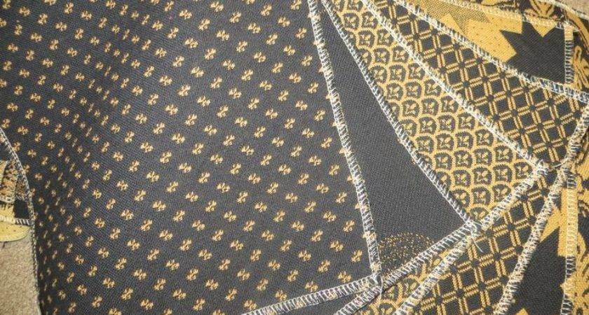 Black Mustard Upholstered Furniture Fabric