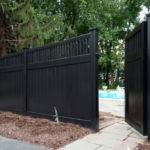 Black Vinyl Fence Panels Peiranos Fences Cut