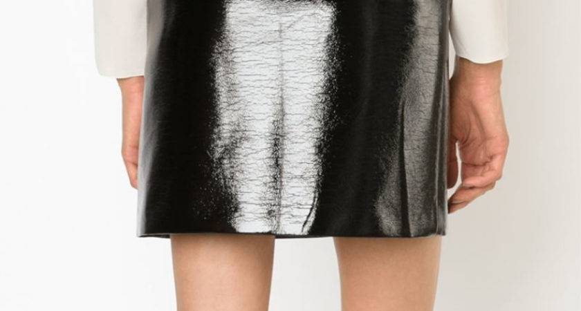 Black Vinyl Skirt