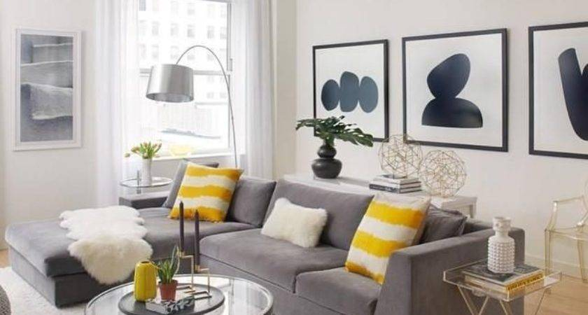 Black White Yellow Home Decor Living Room