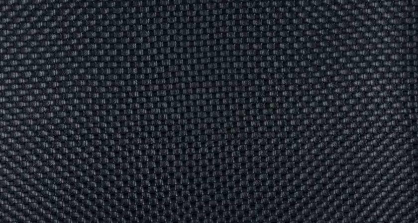 Black Woven Rattan Textured Vinyl Upholstery Faux