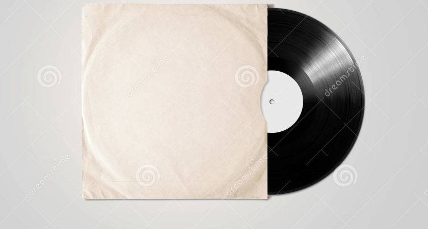 Blank Vinyl Album Cover Sleeve Mockup Clipping Path