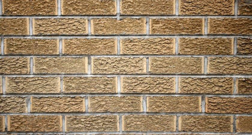 Blonde Brick Wall Texture Photograph