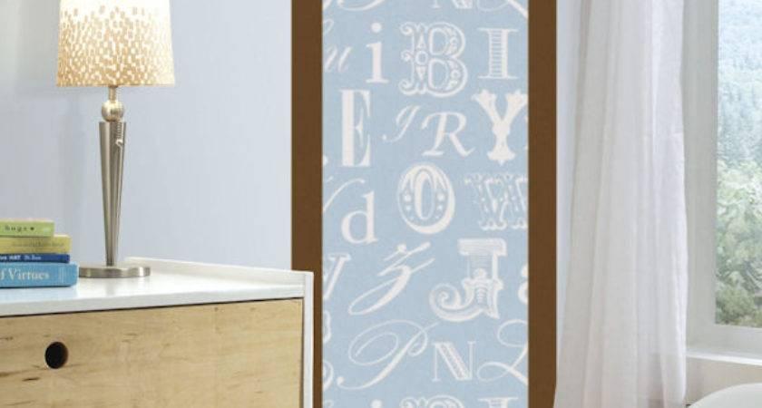Blue Alphabet Deco Peel Stick Wall Panel