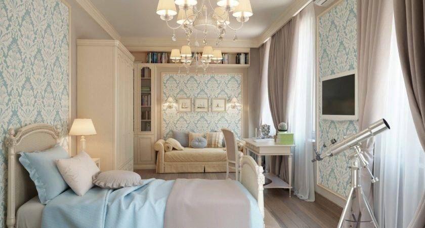 Blue Beige Great Rustic Bedroom Ideas
