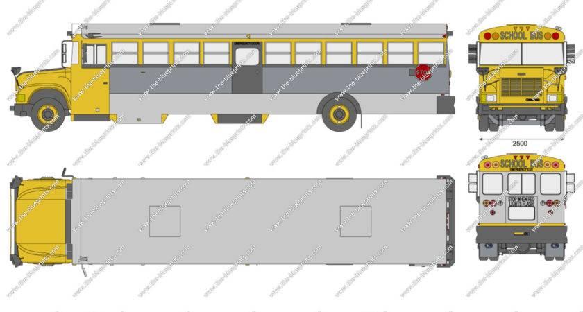 Blue Bird International California School Bus Vector