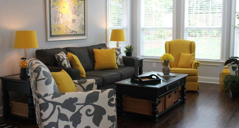 Blue Black Yellow Grey Living Room Best Wiring